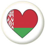 Belarus Country Flag Heart 25mm Pin Button Badge